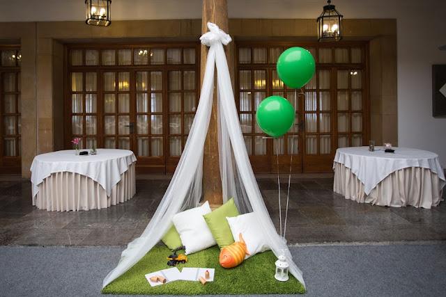 Comunión decorada en verde - Comuniones 2016 - La Comunión de Noa