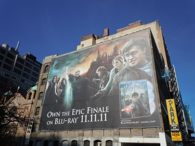 Giant Harry Potter Deathly Hallows 2 billboard