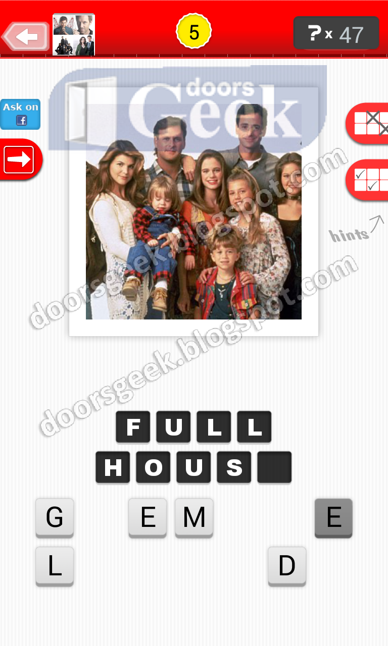 answer full house guess the tv show level 4 5 answer cheats solution
