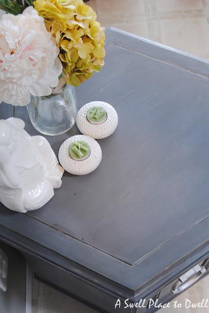 DIY Chalk Paint Hexagon End Tables