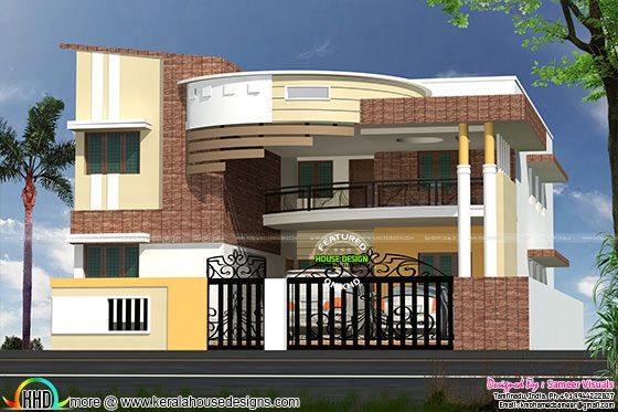 November 2015 kerala home design and floor plans for Small house outer design