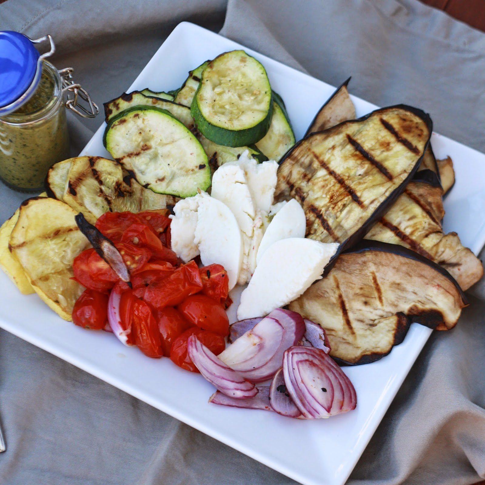 Grilled Vegetable Caprese with Balsamic Pesto   The Sweets Life