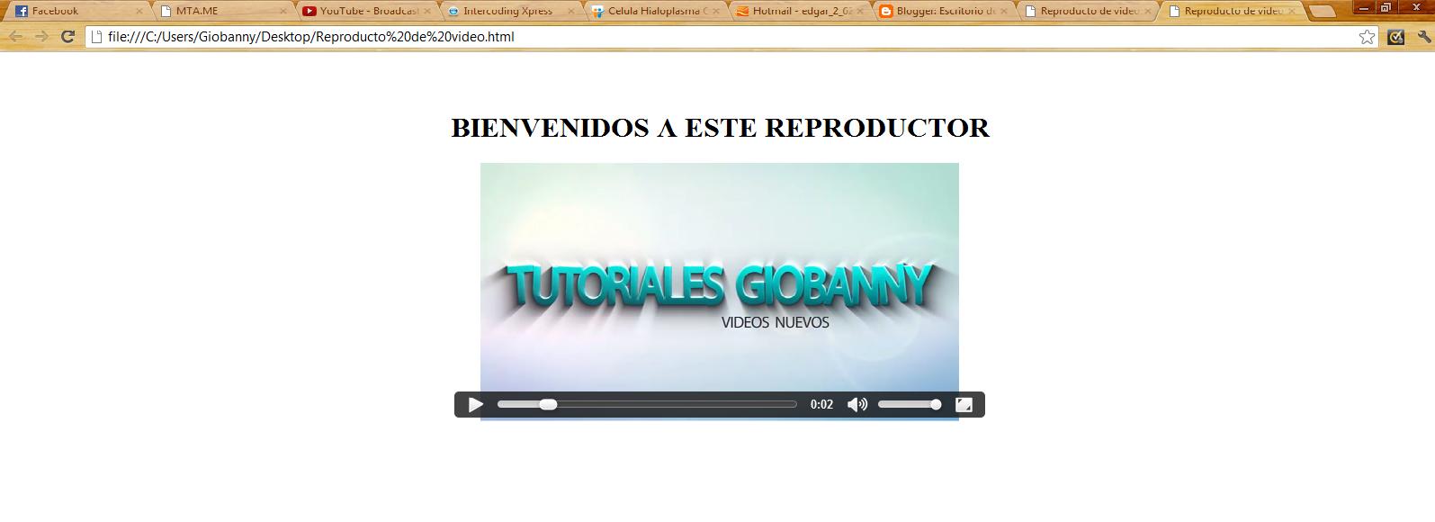 codigo html reproductor: