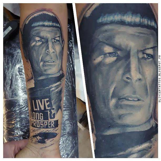 spock tattoo tatouage monsieur spock portrait réaliste couleur