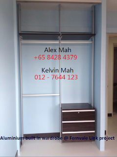 Common Bedroom Aluminium Sliding Door Wardrobe Half Complete