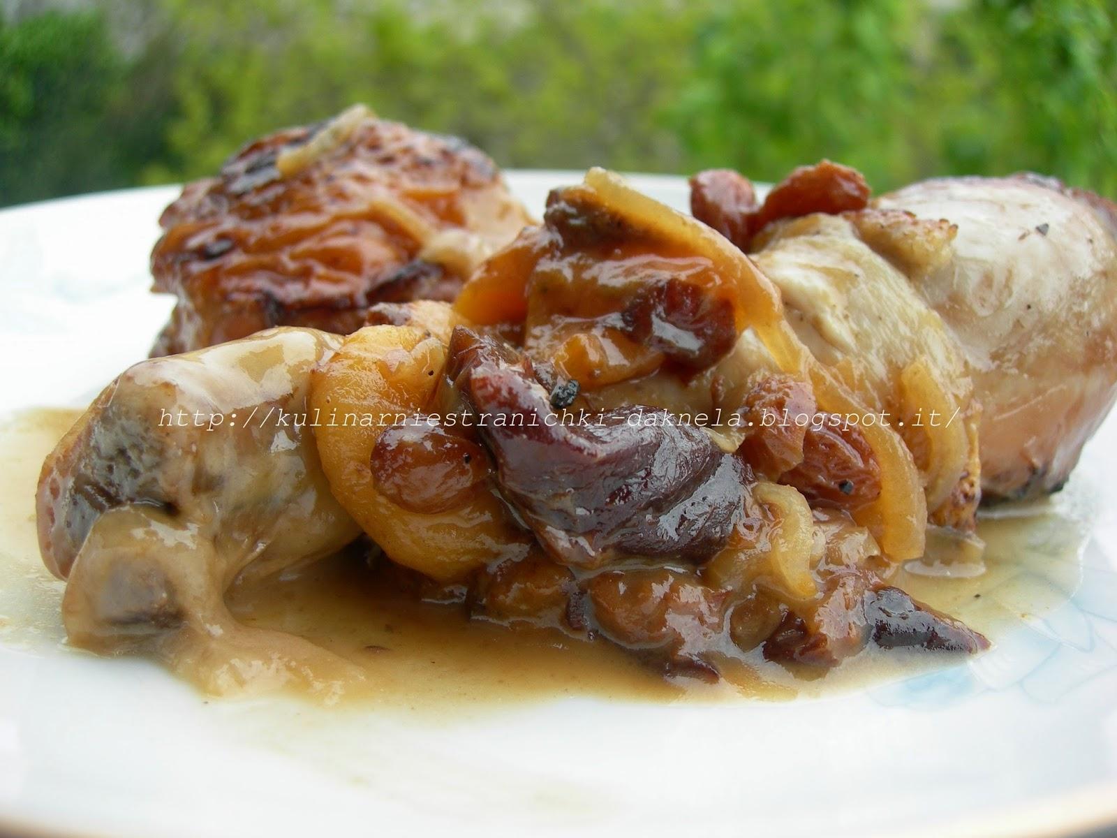 Курица с черносливом в мультиварке пошаговый рецепт
