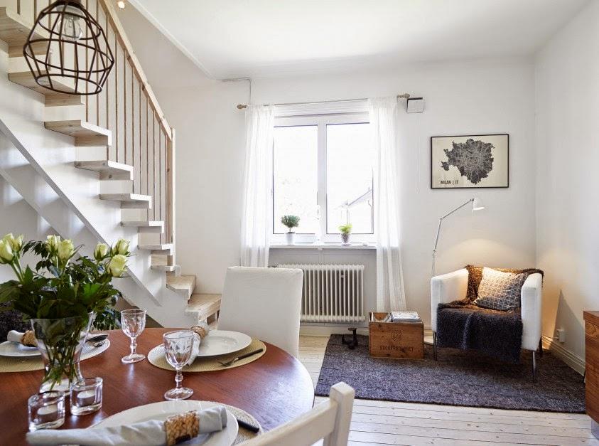 Bello interior de una casa acogedora decorada con encanto for Interior de apartamentos