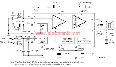 30W Audio Amplifier based TDA7296