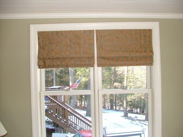 Double Roman Shade On Window : Custom window treatments by why sew serious roman shades
