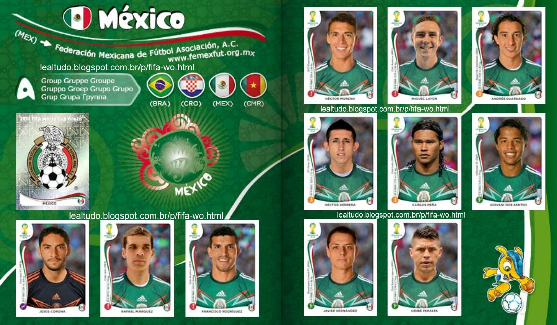Album MEXICO Fifa World Cup BRAZIL 2014 LIVE COPA DO MUNDO Sticker Figurinha Download Lealtudo