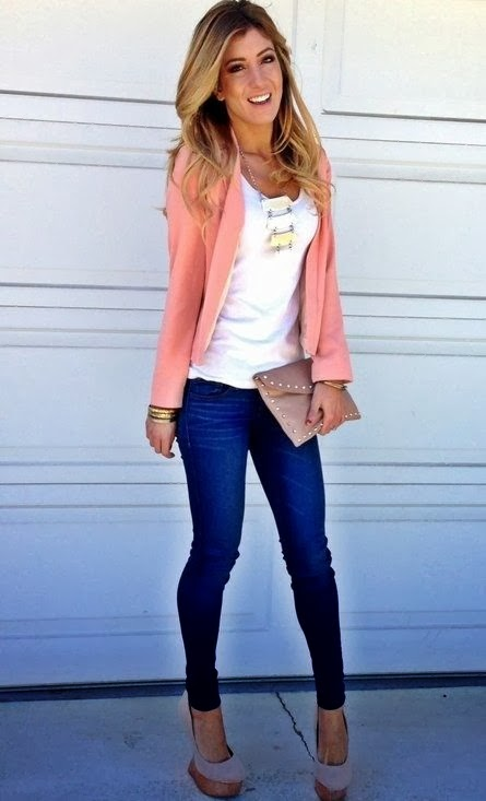Casual Outfits with Jeans and Heels