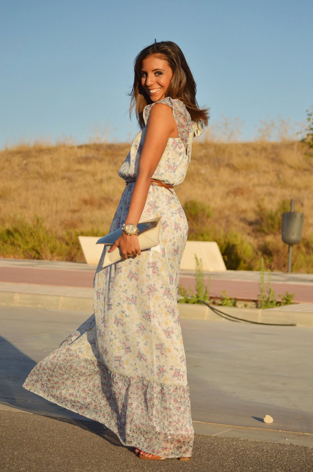dress zara street style fashion style blogger malaga malagueña outfit look ootd flowers styles stylish moda mood cristina style lovely nice cute swag purse designer beauty summer pics chic casual wear