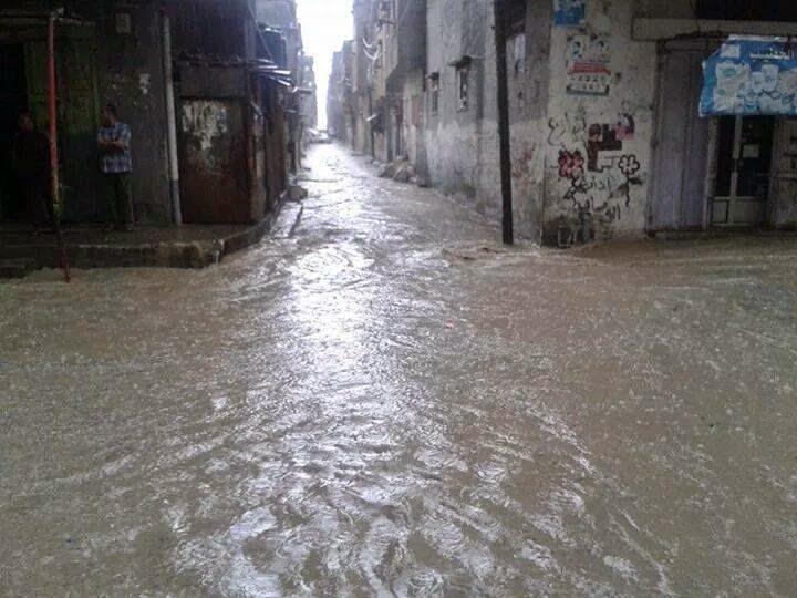 Gambar Banjir di Bandar Gaza