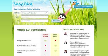 SnapBird encuentra mensajes y retweets en Twitter