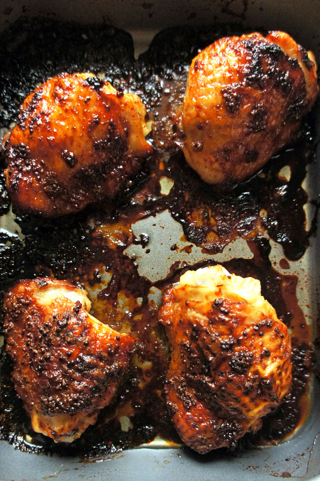 Top 5 Recipes of 2014 | 4-Ingredient Sticky Chicken Thighs | The Road to Less Cake | #2014 #FoodPorn #Recipes #Healthy