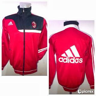 Jaket AC Milan Merah Kombinasi Hitam