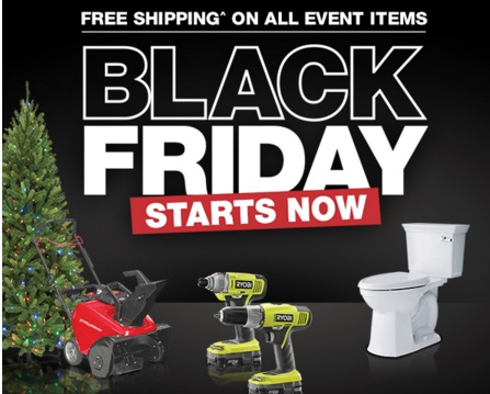 The Home Depot Black Friday + Free Shipping