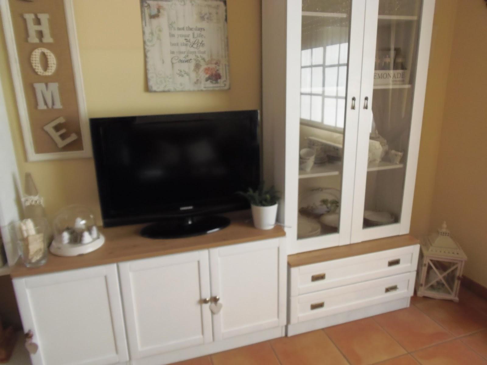 Lascosasdeleni tuneo mueble y feliz navidad for Muebles color cerezo como pintar paredes