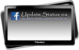 Cara Update Status Facebook Melalui Blackberry