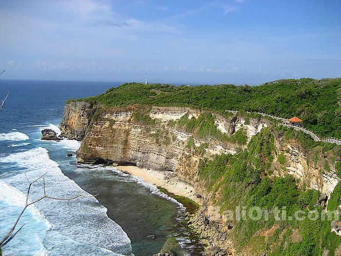Beautiful scenery in Uluwatu viewed from the east