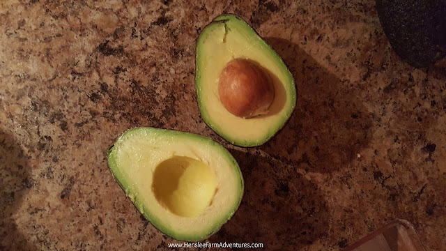 Halved Avocado The Easiest Guacamole  www.hensleefarmadventures.com