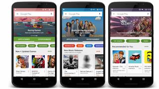 متجر جوجل بلاي تصميم جديد وخاصية دعم البصمة في أندرويد 6.0