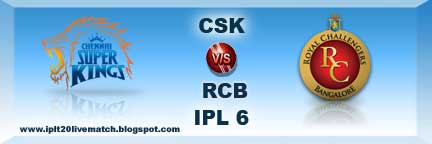 CSK vs RCB Live Streaming Video Highlight Live Scorecards