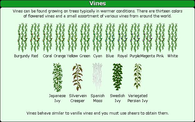 Plant Mega Pack Mod vines