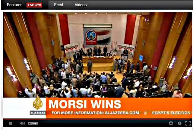 berita al-jazeera : morsi wins