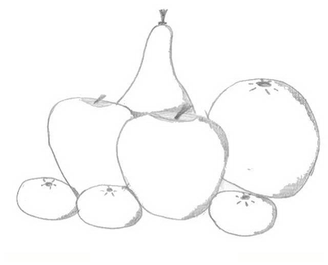 Bodegon de frutas para colorear - Imagui