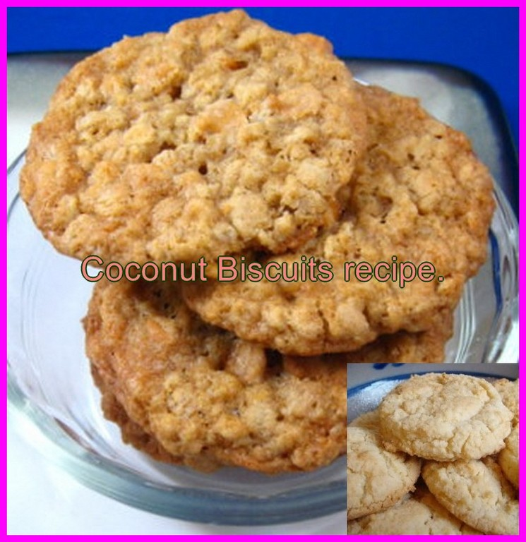 Coconut biscuits recipe.