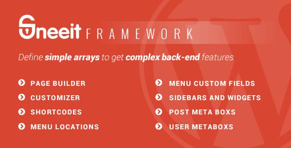 Sneeit Framework - Plugin for Wordpress Theme Back-end