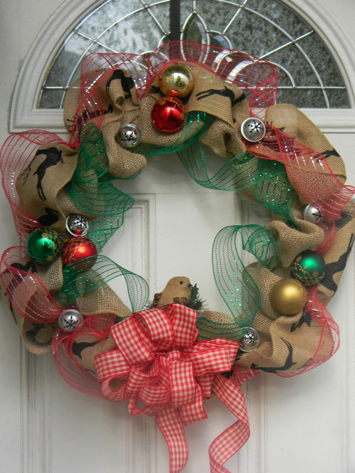Always Savory Burlap Christmas Wreath: burlap xmas wreath