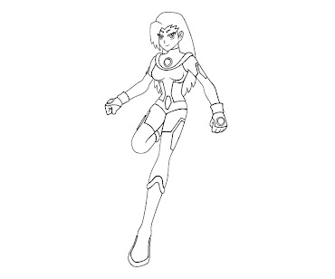 #6 Starfire Coloring Page