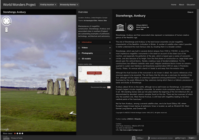 Google World of Wonders Projekt - Bild von Stonehenge