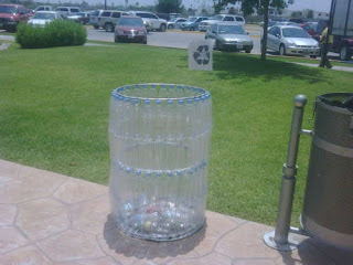 Plastic Bottle Trash Can