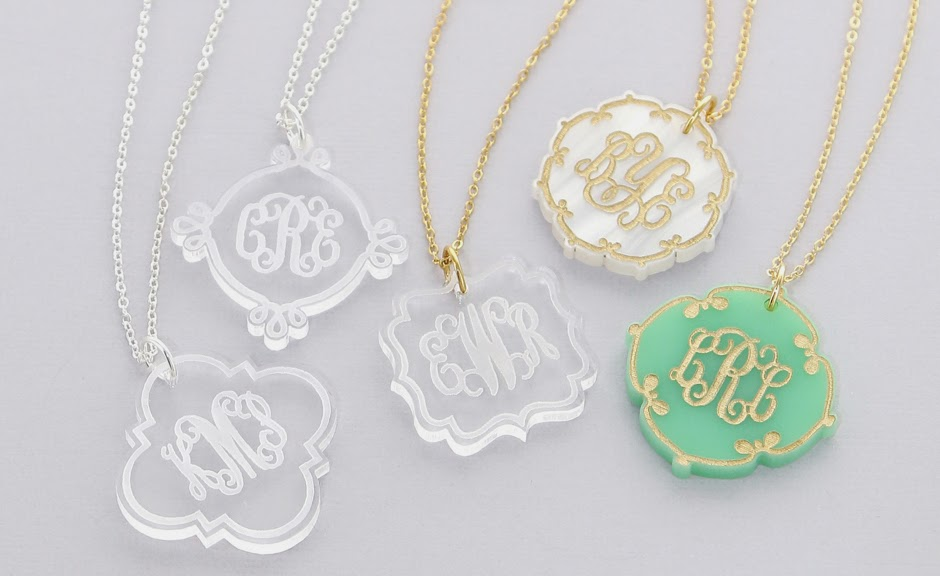 New Monogram Acrylic Initial Necklaces