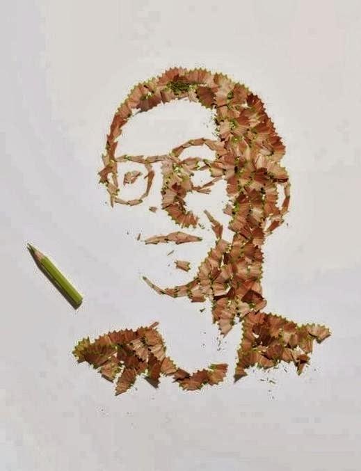 pencil-shaving-portraits - فن الرسم بنشارة القلم الرصاص