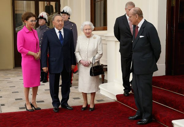 Queen Elizabeth II welcomed President of the Republic of Kazakhstan Nursultan Nazarbayev at Buckingham Palace