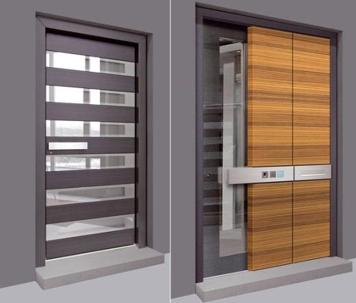 Ide desain pintu interior ini sangat inovatif. Penggunaan kayu dan ...
