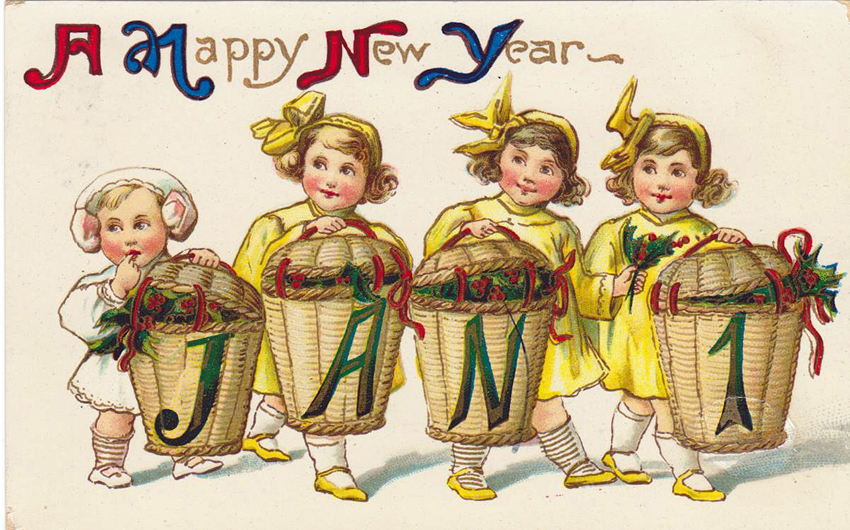 Vintage New Year Postcard 45