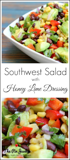 Southwest Salad with Honey Lime Dressing