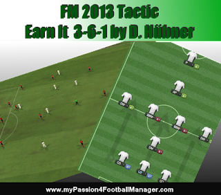Football Manager 2013 Attacking Tactic Earn it 3-6-1
