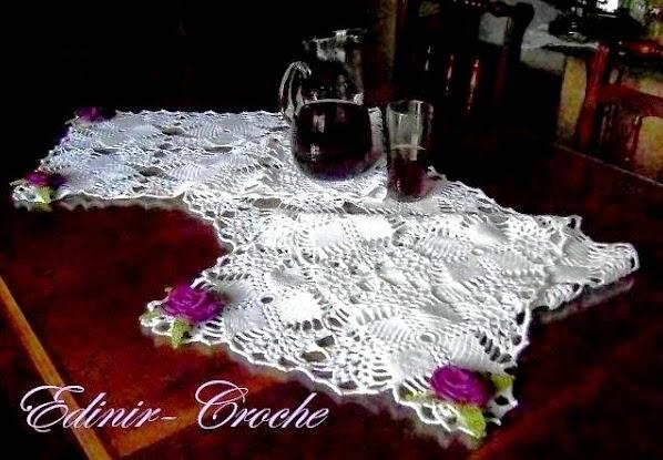 dvd em croche caminho de mesa em croche em aprender croche com edinir-croche frete gratis na loja curso de croche