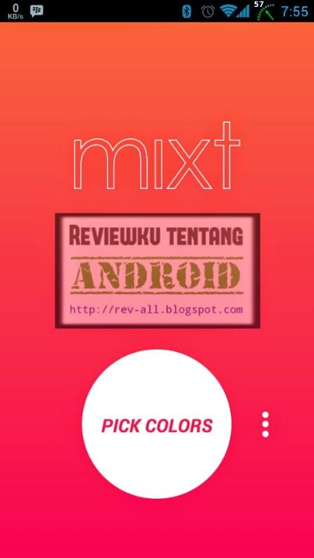 Tampilan utama aplikasi MIXT - cara cepat dan mudah membuat wallpaper gradien 2 warna sendiri di android (rev-all.blogspot.com)