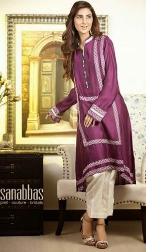 Sana Abbas Pret Eid Designs 2014-15