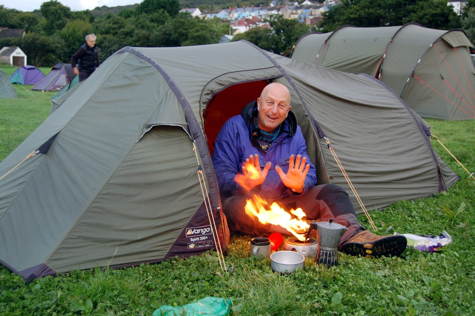 An early awakening at 6am after only 4 hours sleep too find Jim torching himself outside his tent.  sc 1 st  Stuart - Sea Kayak & Stuart Yendle - Sea Kayak Adventures: West Wales Sea Kayak Meet
