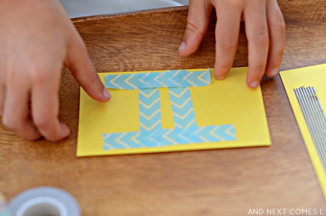 Fine motor math craft for kids from And Next Comes L