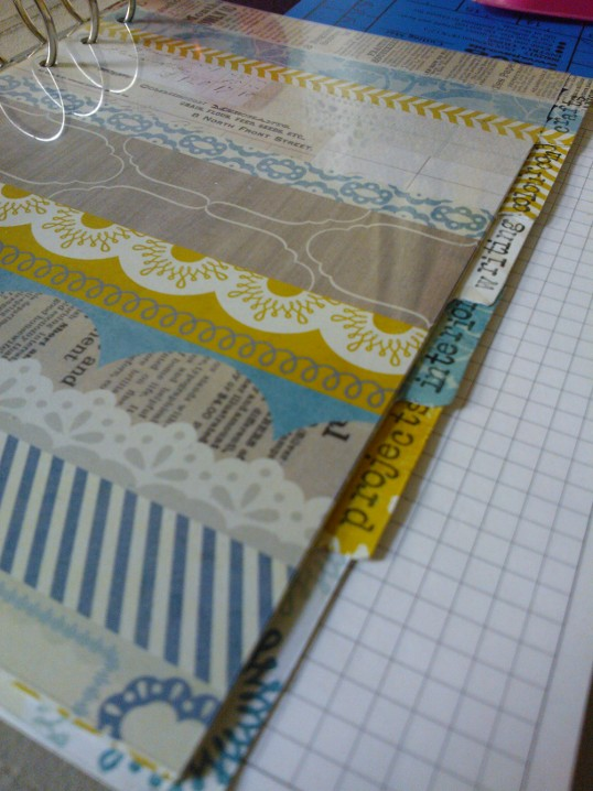 jagged little thoughts creative filofax homemade dividers