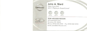 John Ward Sales Consultant 2011 Platinum Award Level 2008- 2010 2011
